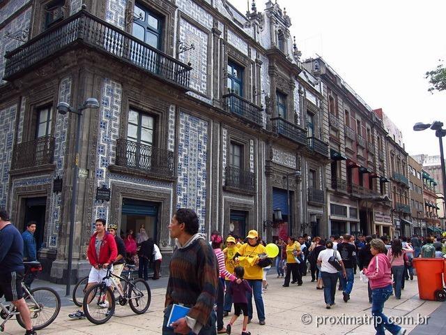 fachada Casa dos azulejos centro histórico cidade México