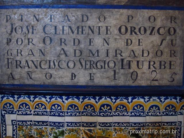 Casa de los azulejos, Pintado José Clemente Orozco Cidade do México