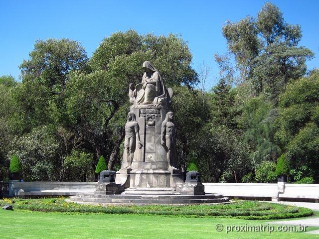 Jardim do Museo Nacional de História e Castelo de Chapultepec - Cidade do México