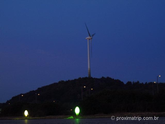 Turbina eólica gerar energia Allianz Arena