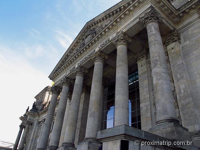 Reichstag entrada Neo Clássica Para povo alemão Dem Deutschen Volke