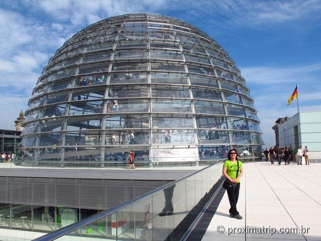 Reichstag: Cúpula vidro Norman Foster vista externa