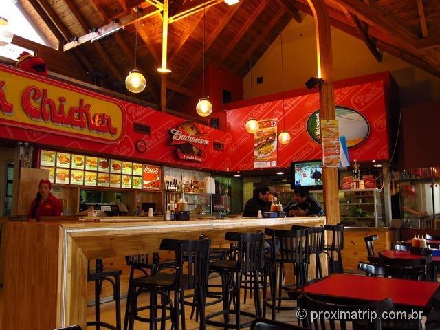 Dicas onde comer Bariloche fast food Rock Chicken