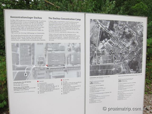 O campo de concentração de Dachau, estabelecido em março de 1933