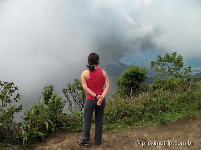 Pico da Tijuca com núvens!