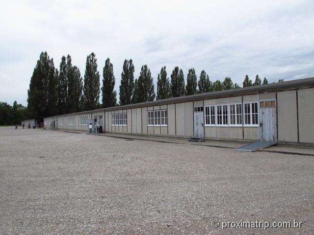 Galpão restaurado dormitório campo de concentração Dachau
