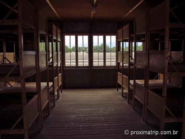 Campo de concentração de Dachau: os barracões onde dormiam os judeus