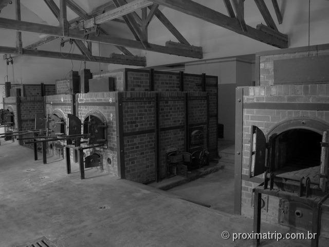 Campo de concentração de Dachau: os fornos
