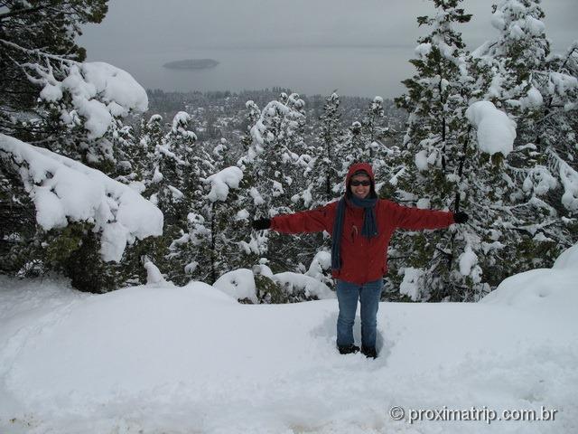 Lago Nahuel Huapi visto Cerro Otto neve