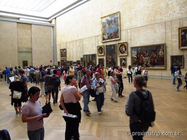 Sala da Monalisa - Museu do Louvre - Paris
