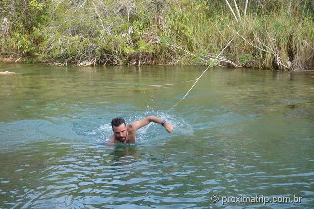 Hotel Cabanas - Nadando no rio!!