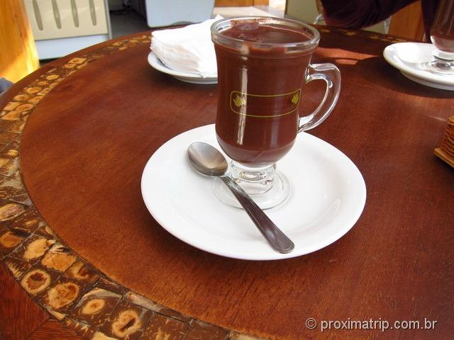 Chocolate quente na Chocolateria Silvestre - Monte Verde