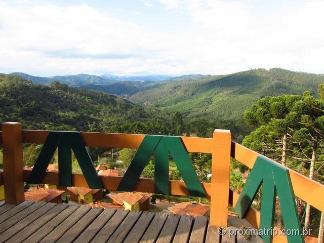 Mirante na estrada que dá acesso a Monte Verde