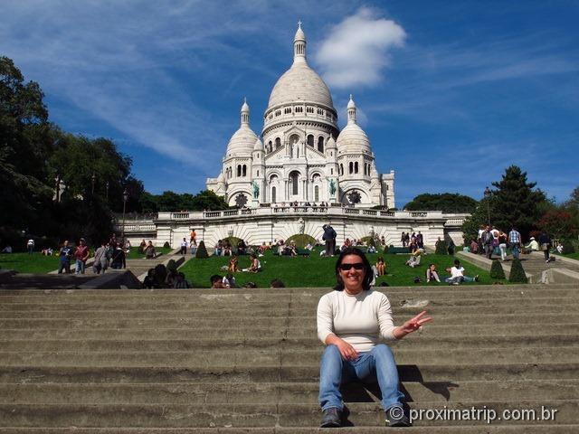 A bela Basílica de Sacré Coeur, em Paris