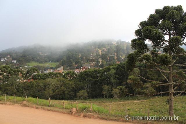 Vista cidade Monte Verde estrada Aeroporto