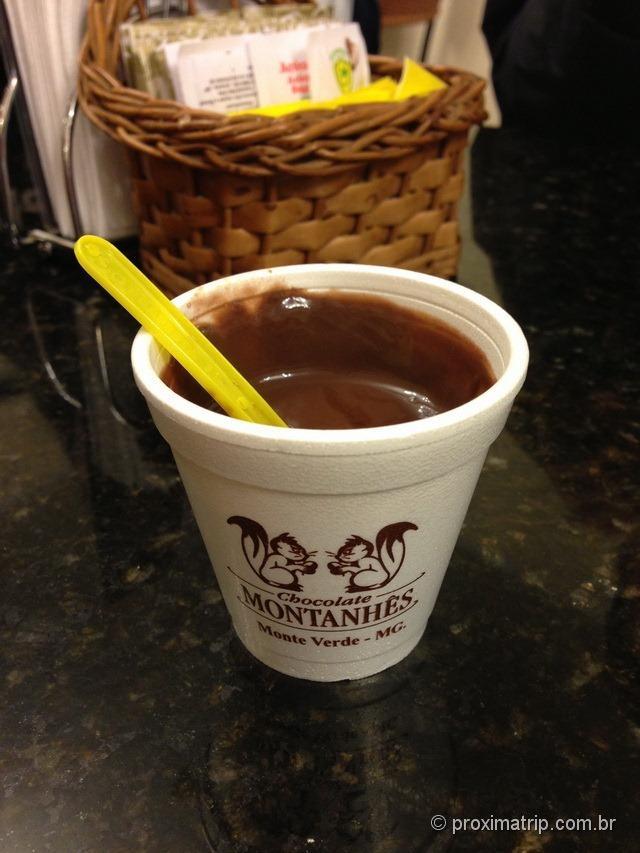 Delicioso chocolate quente Montanhês - Monte Verde