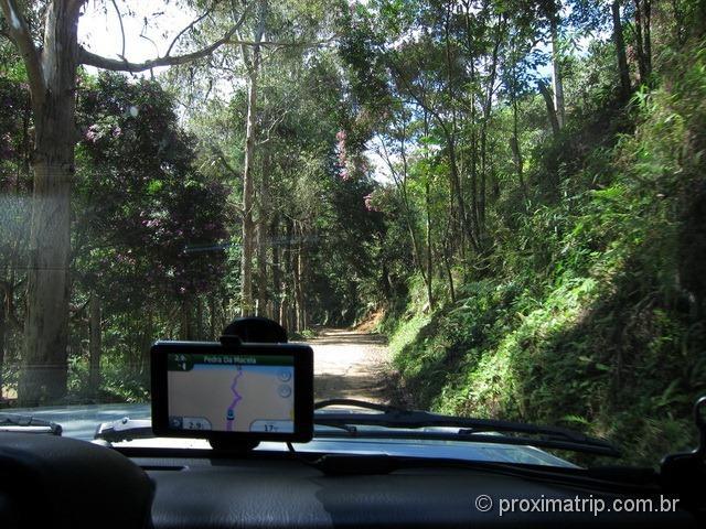Estrada cascalho terra acesso trilha Pedra Macela Cunha SP