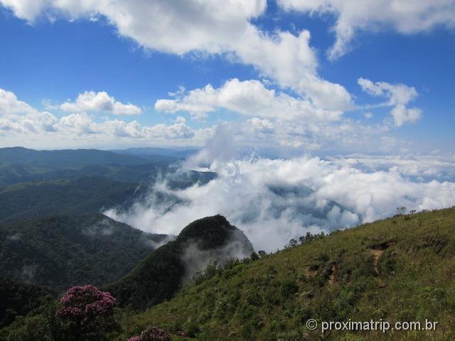 Vista da trilha da Pedra da Macela - Cunha - SP