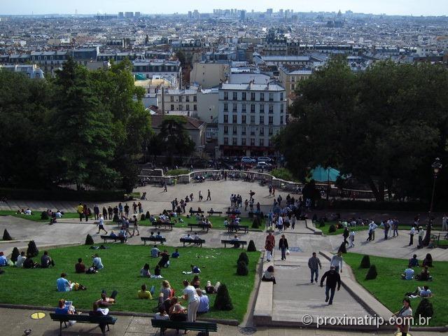 Paris vista da Basílica de Sacré Coeur