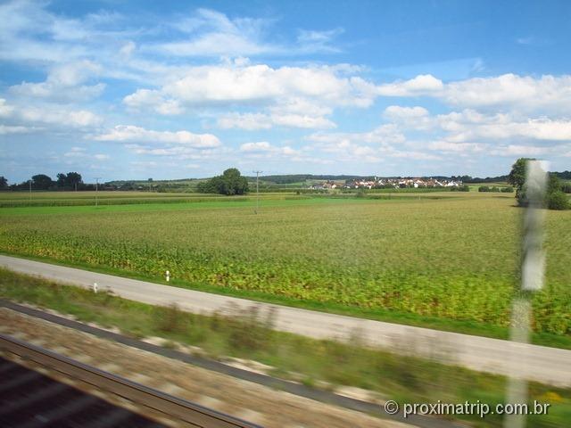 Conhecendo a alemanha de trem, trecho Frankfurt - Munique