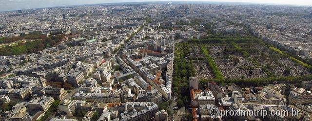 Cidade de Paris vista do alto da Torre Montparnasse