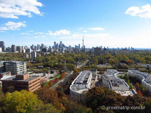 Vista da cidade de Toronto a partir da Casa Loma