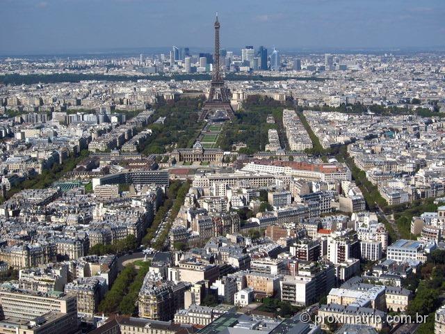 Torre Eifel vista do alto da Torre Montparnasse - Paris