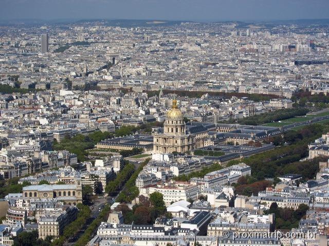 Complexo Les Invalides e Museu do Exército Nacional alto torre montparnasse