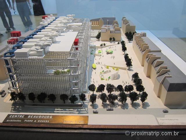 Maquete Centre Pompidou Paris