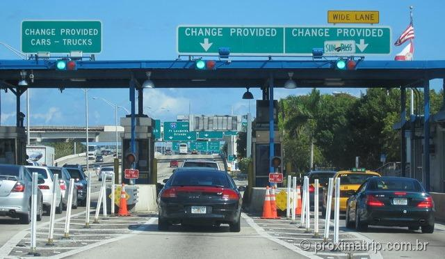 Como dirigir em Miami e Orlando, nos EUA - Pedágio