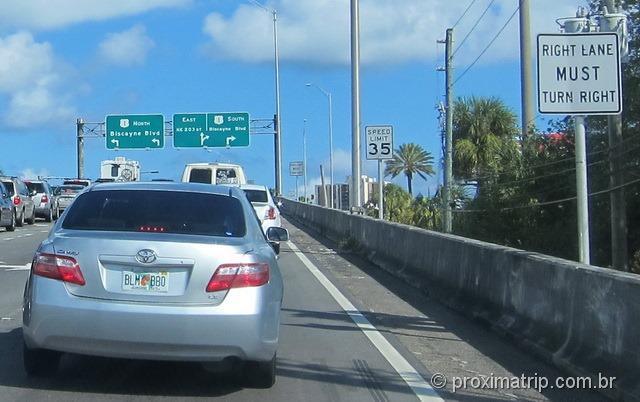 Como dirigir em Miami e Orlando, nos EUA – algumas pistas tem manobras obrigatórias
