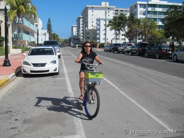 Ciclovia em Miami Beach