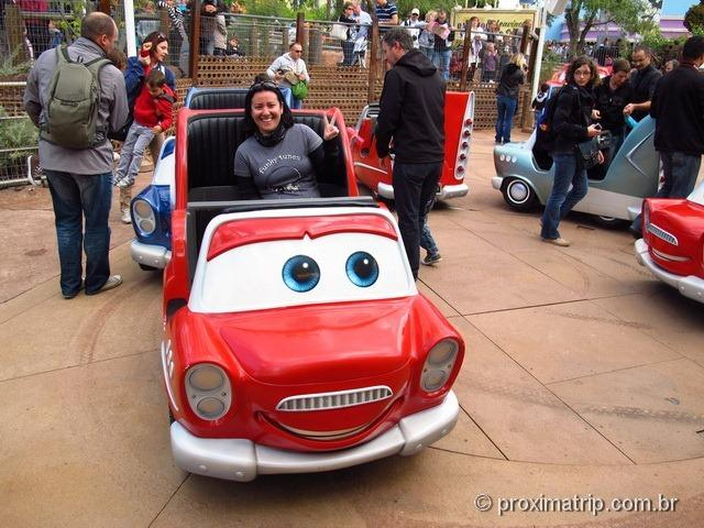 Eurodisney Paris - brinquedo do carros
