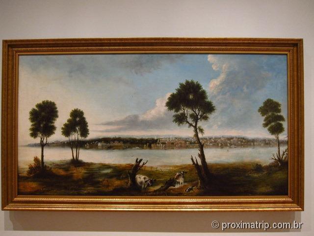 Pintura antiga cidade Toronto ROM Royal Ontario Museum