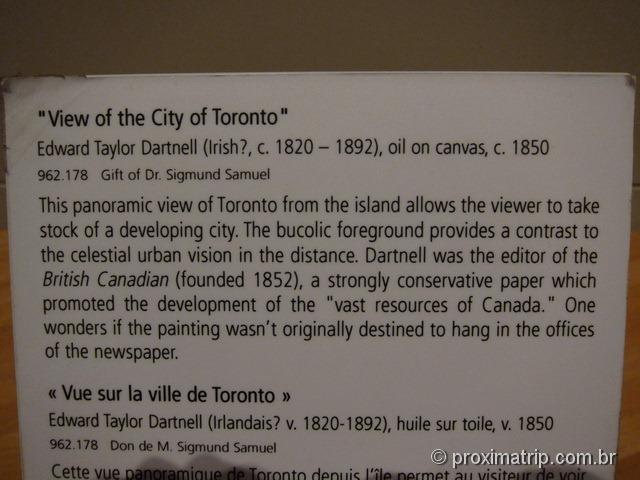 Quadro cidade Toronto ROM Royal Ontario Museum