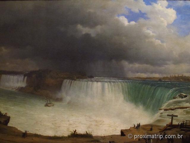 Pintura antiga cataratas niagara ROM Royal Ontario Museum Toronto