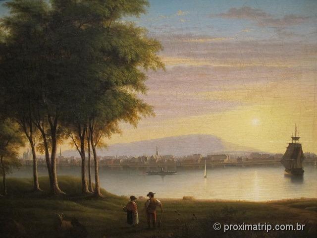 Pintura cidade Montreal ROM Royal Ontario Museum