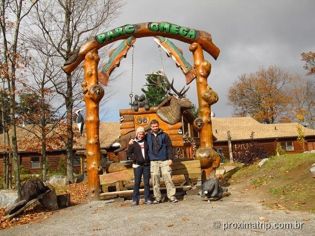Centro de visitantes do Parc Omega - Canadá