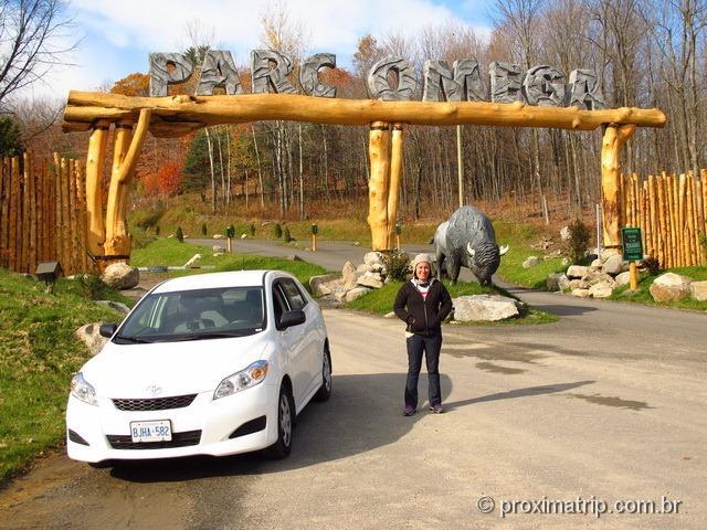 Entrada do Parc Omega - Canadá