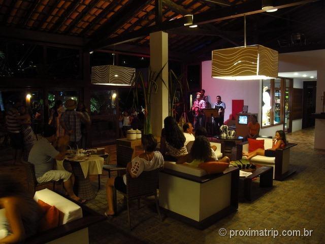 Entretenimento noturno - música e dança no Hotel Village - Porto de Galinhas