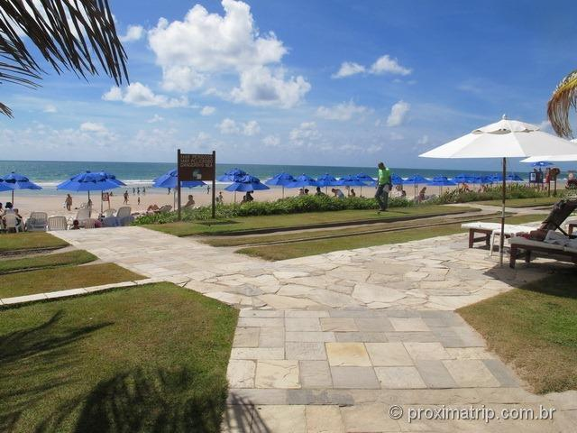 acesso à praia - Hotel Village - Porto de Galinhas
