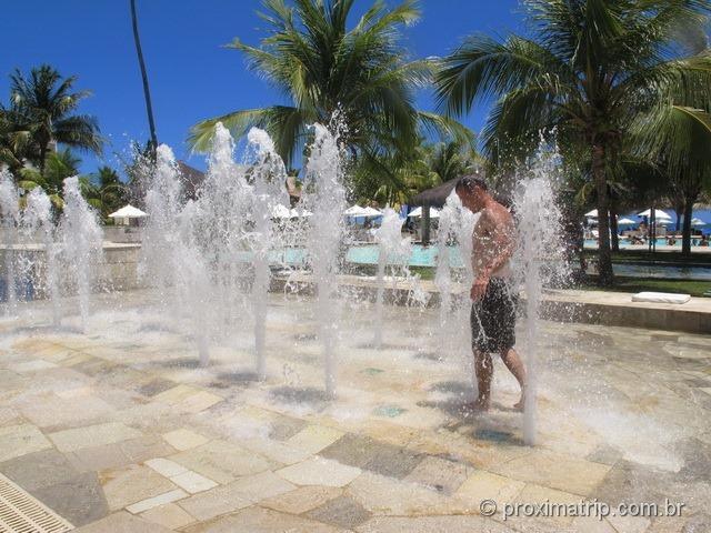 Jatos de água para refrescar - Hotel Village - Porto de Galinhas