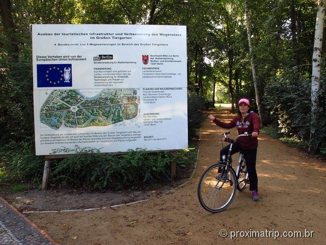 Tiergarten de bike - Berlim.