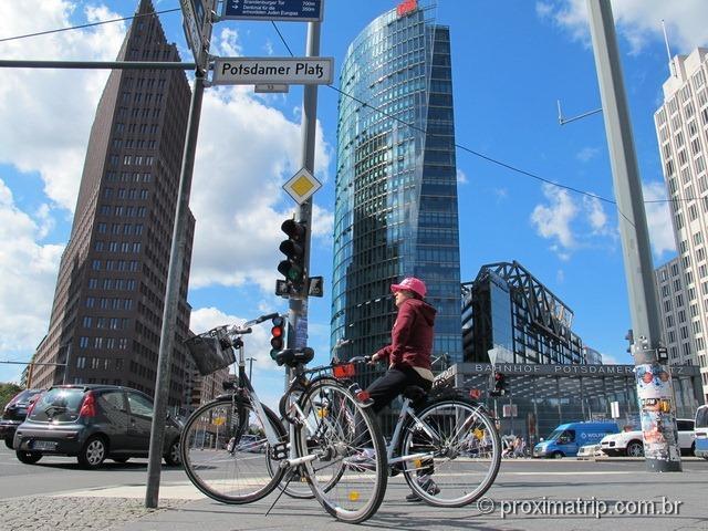 Pedalando por Berlim - Potsdamer Platz