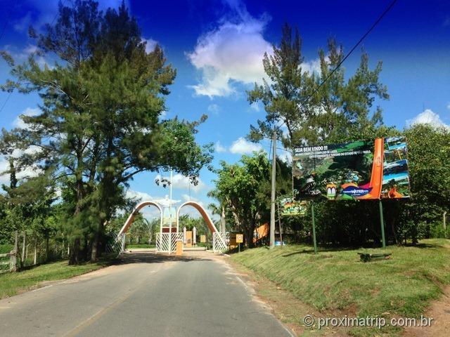 Entrada do Parque Aquático Thermas Water Park - Águas de São Pedro