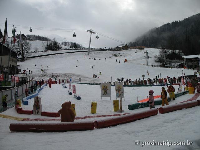 Massif Beauregard - escolinha de esqui para crianças La Clusaz