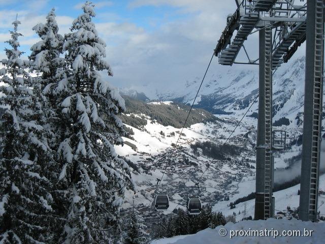 a Linda vista do Massif Beauregard - La Clusaz