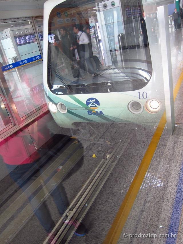 Aeroporto Internacional de Pequim (PEK) - Trem para centro da cidade