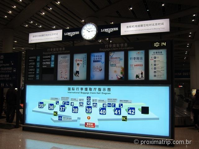 Aeroporto Internacional de Pequim (PEK) - Bagagem