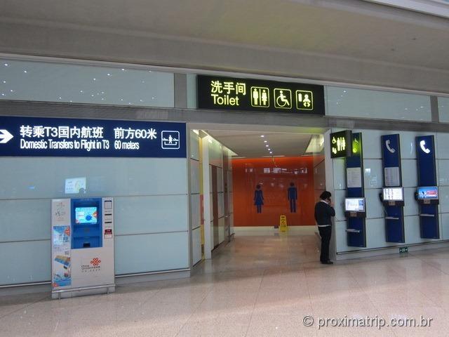 Aeroporto Internacional de Pequim (PEK) - Banheiros
